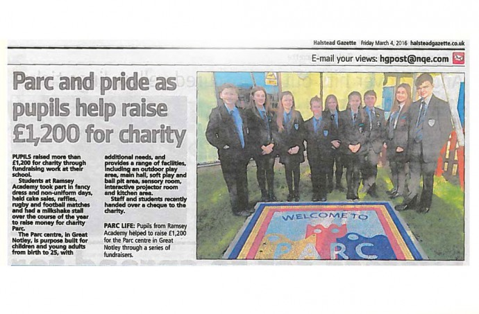 Parc and pride as pupils help raise money