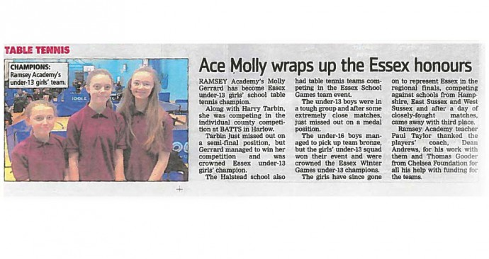 Ace Molly wraps up the Essex honours