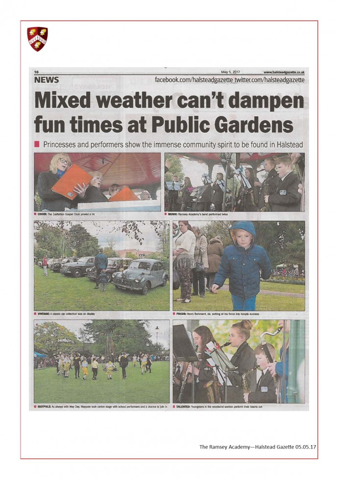 Halstead Gazette May Day in The Park Part 2 05.05.17