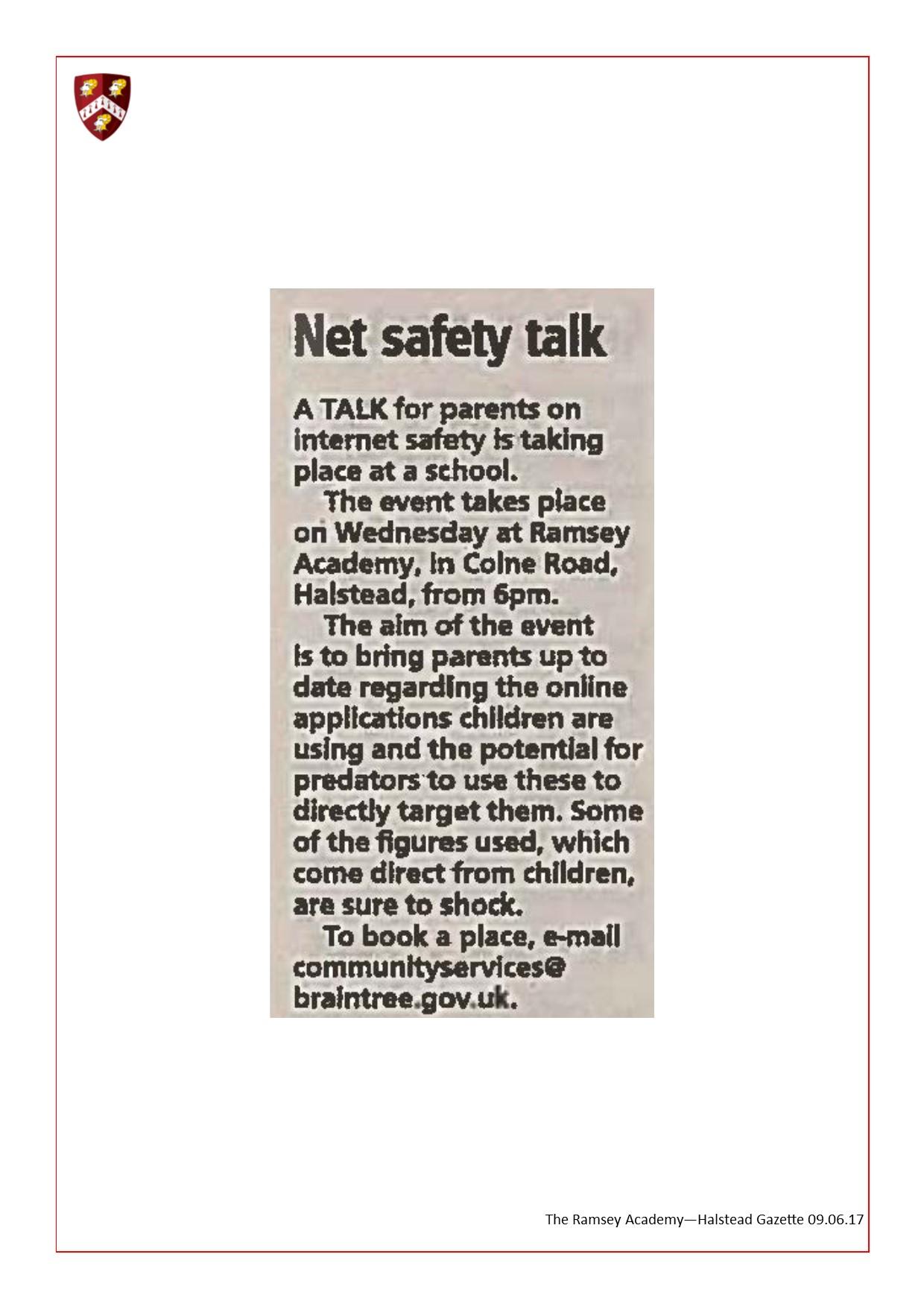 Net Safety Talk 09.06.17