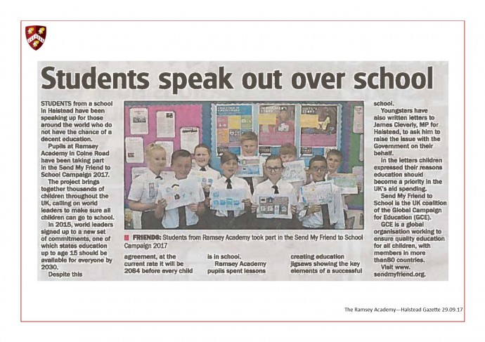 Students Speak Out Over School 29.09.17