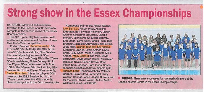 Essex Swimming Championships