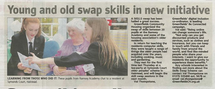 Young and old swap skills in new initiative
