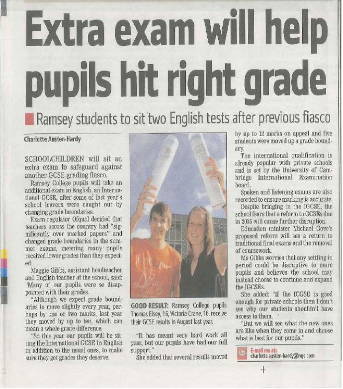 Extra Exam Help