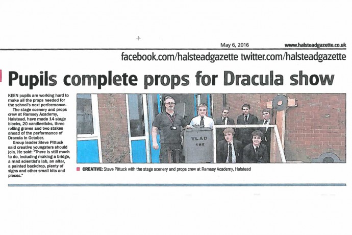 Pupils complete props for Dracula show