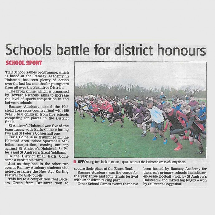 School battle for district honours