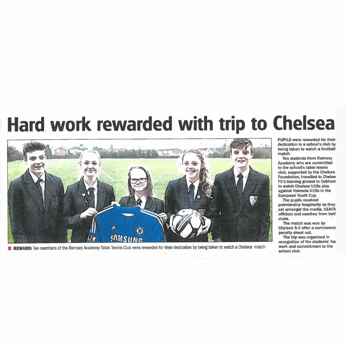 Hard work rewarded with trip to Chelsea