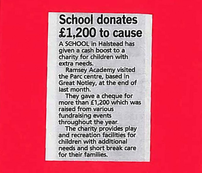 School donates £1200 to cause