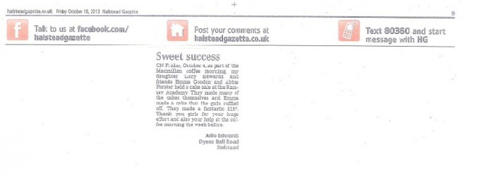 Sweet Success!