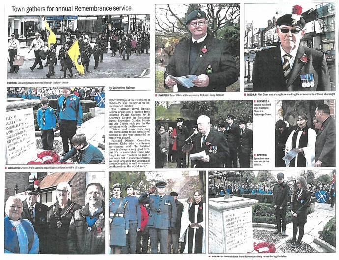 Town gathers for annual Remembrance service