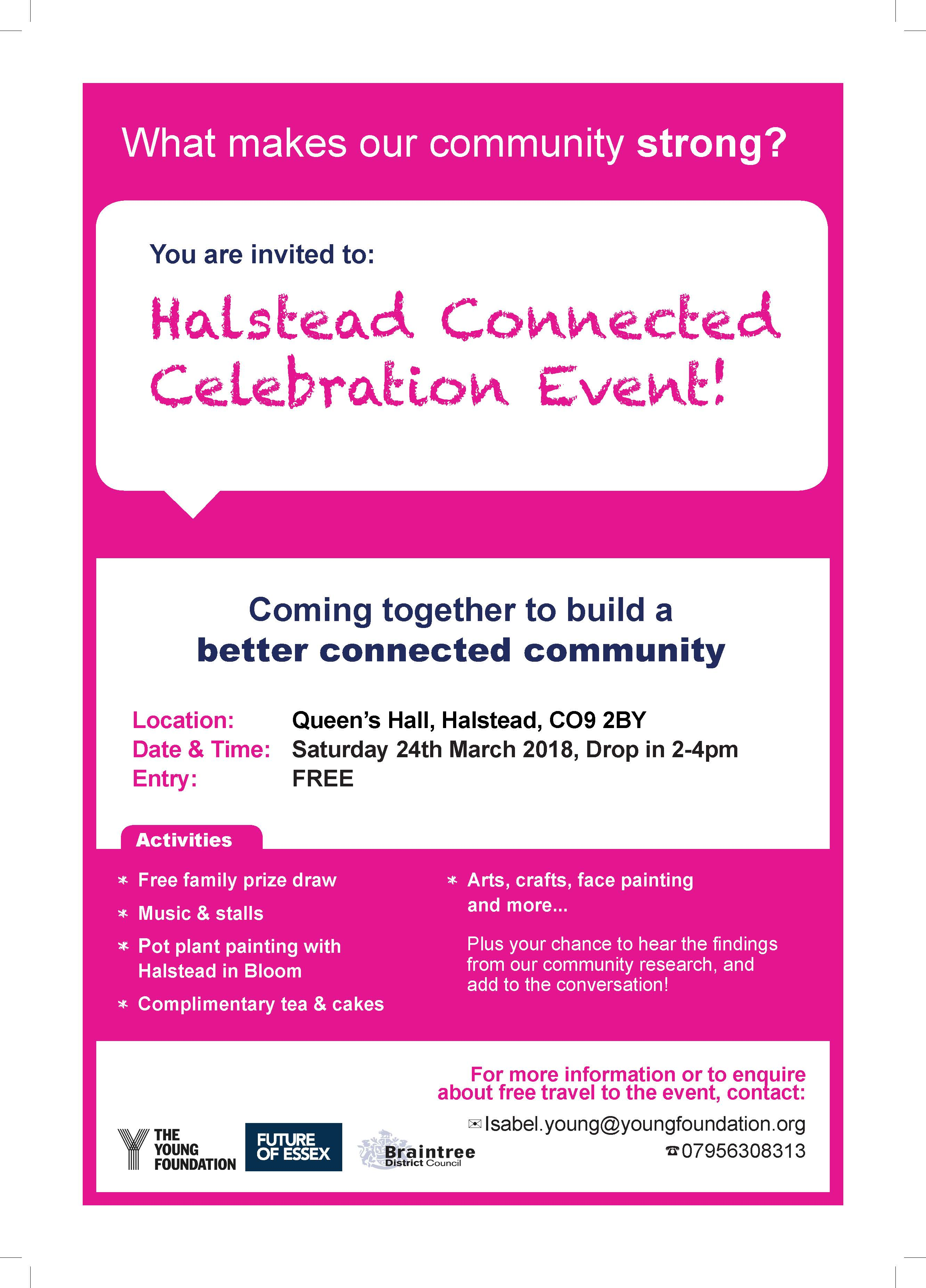 Halstead Connected Celebration Event 24.03.18