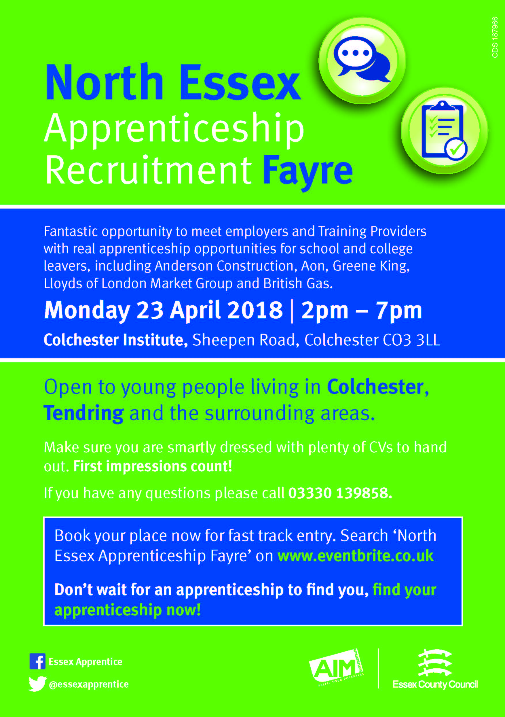 North Essex Apprenticeship Recruitment Fayre 23.04.18