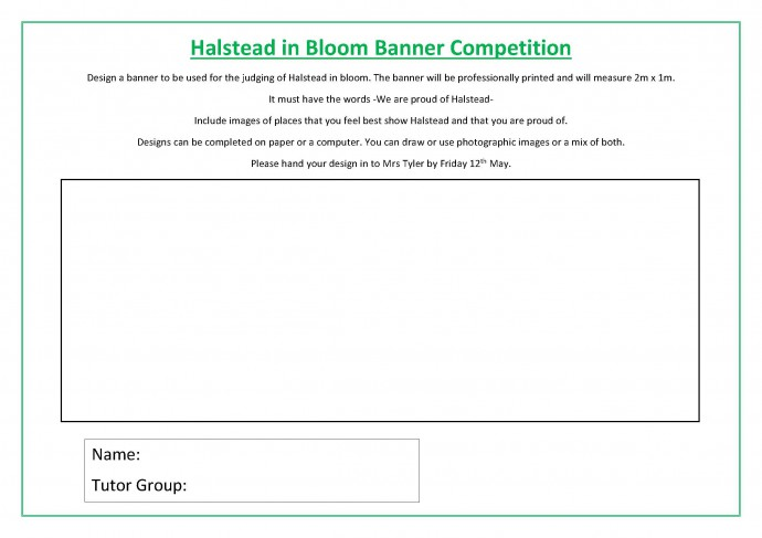 Halstead in Bloom Banner Competition