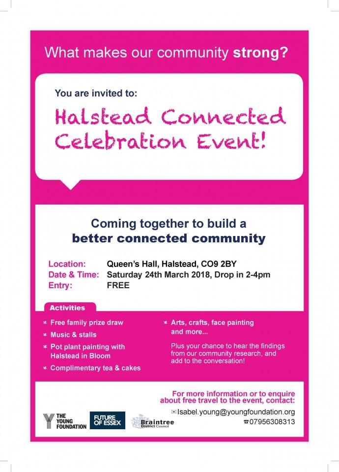 Halstead Connected Celebration Event 24.03.18