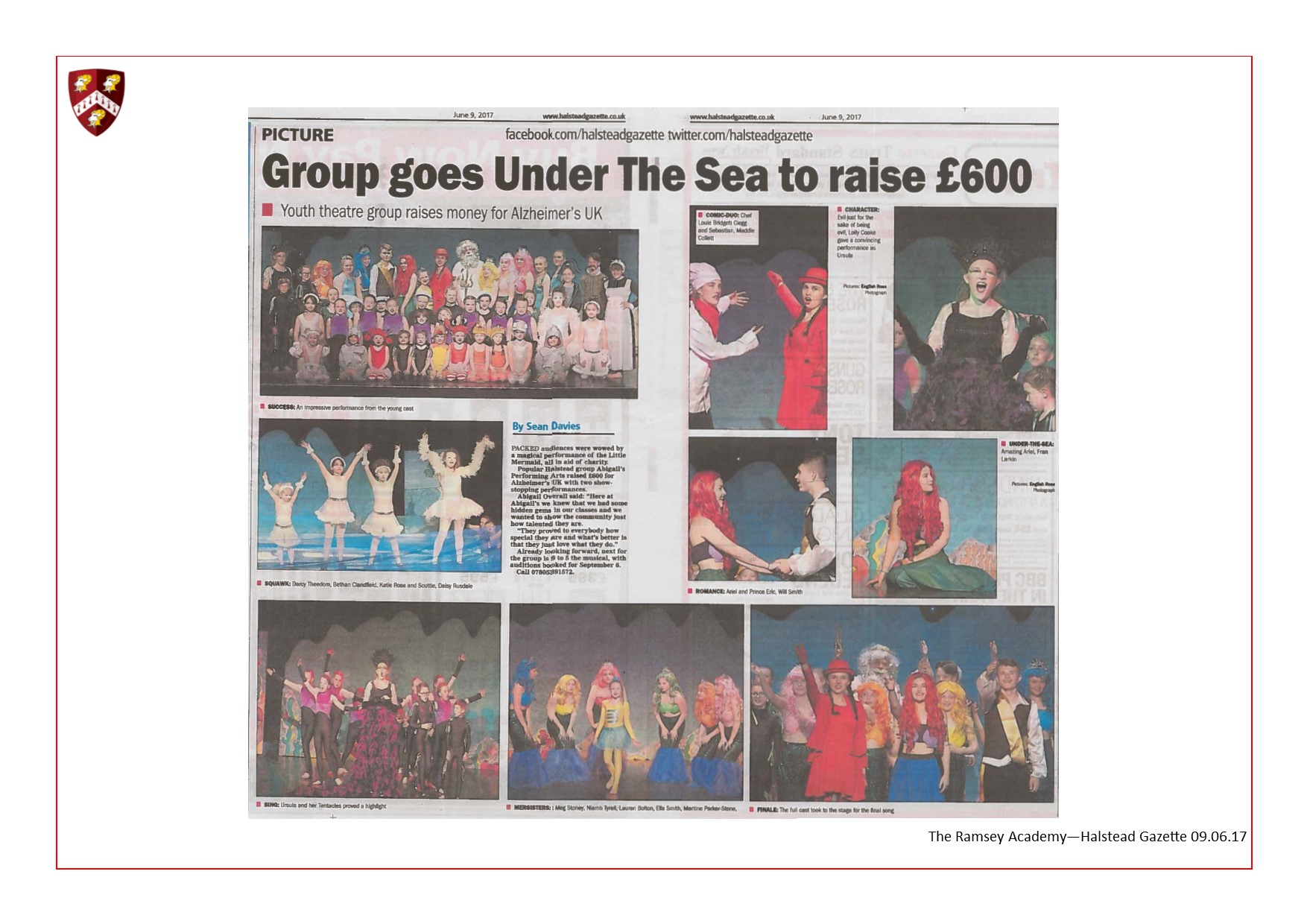 Little Mermaid Production at the Braintree Arts Theatre 09.06.17