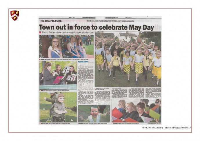 Halstead Gazette May Day in The Park 05.05.17
