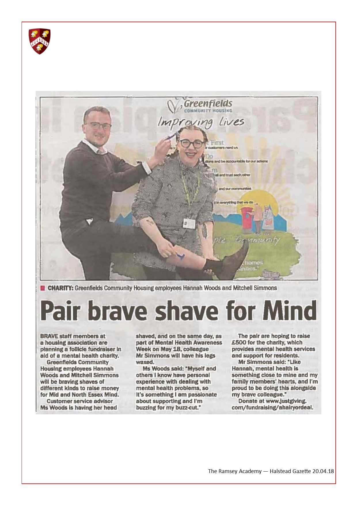 Pair Brave Shave For Mind 20.04.18