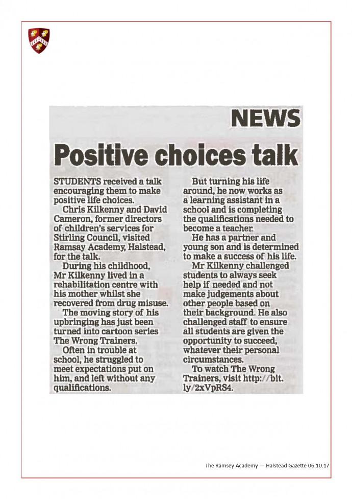Positive Choice Talk 06.10.17
