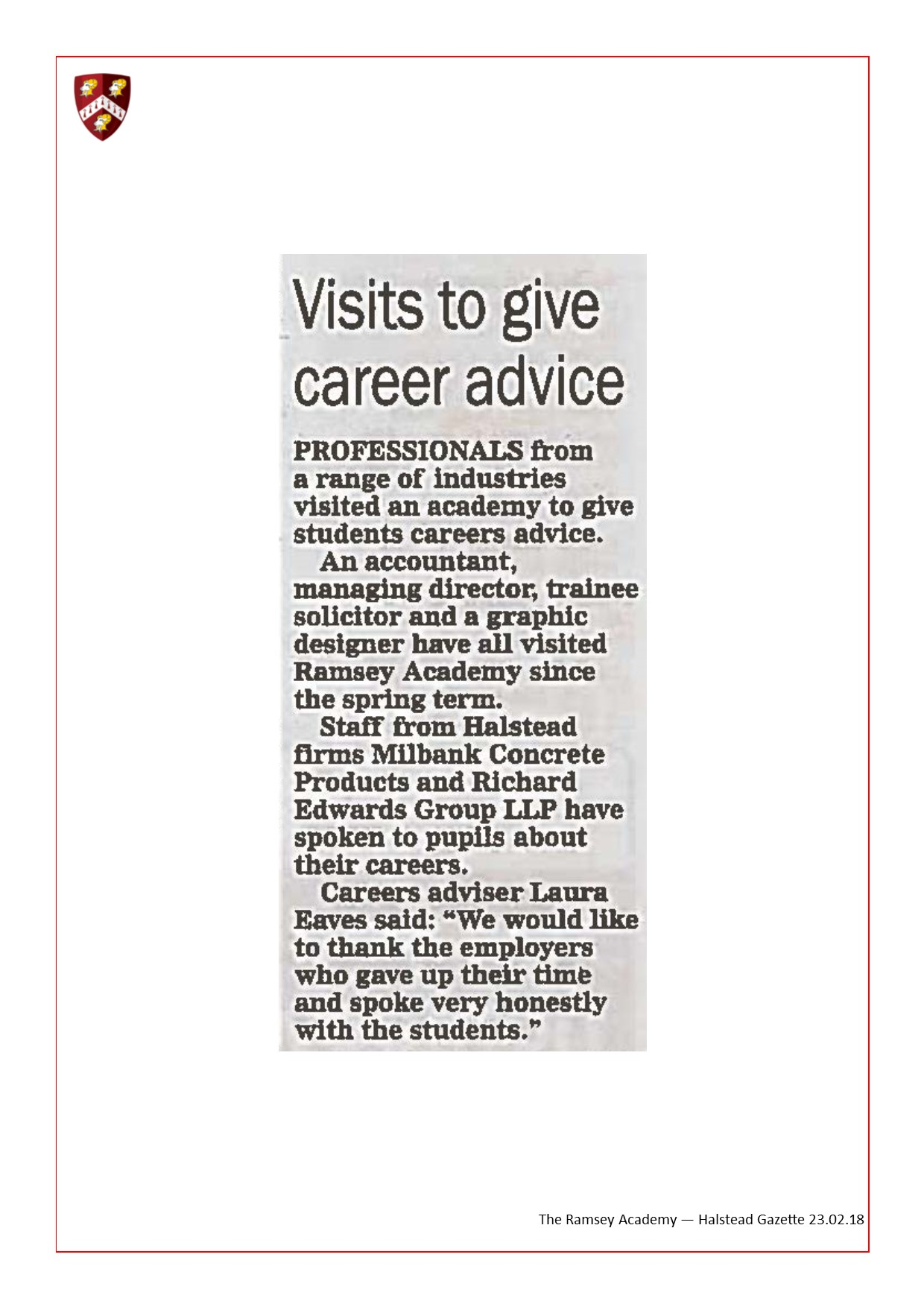Visits To Give Career Advise