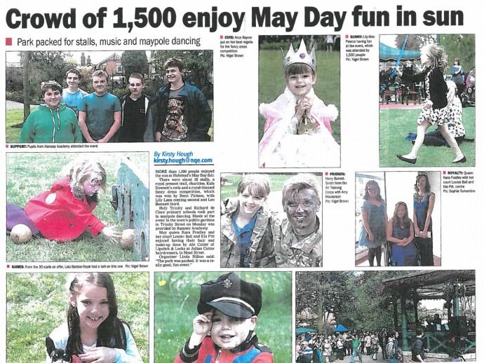 Crowd of 1,500 enjoy May Day fun in sun